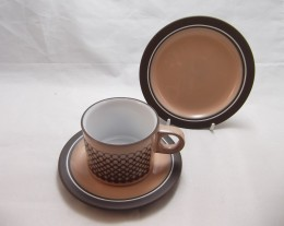 HORNSEA Coral / TRIO (Cup, Saucer & Plate)