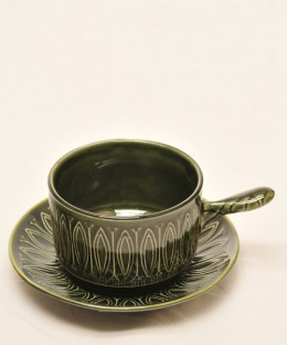 TAMS / One Handle Soup Cup & Saucer