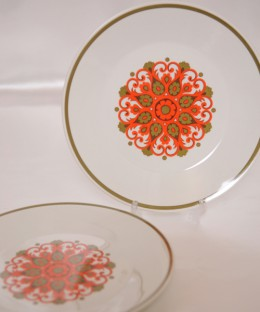 J&G Meakin Madrid / 23cm Plate 2 Pieces SET