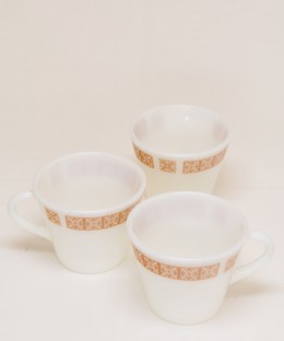 JAJ PYREX Mystery Design / Cup 3 Pieces SET