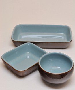 Denby Homestead / Tray & Bowl 3 Pieces SET
