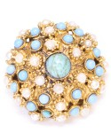Vintage Costume Jewelry Brooch / Fake turquoise